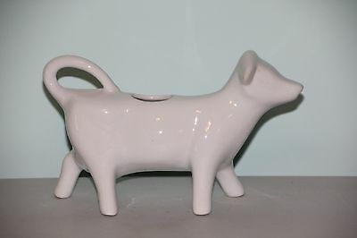 White Porcelain Cow Creamer in Excellent Condition