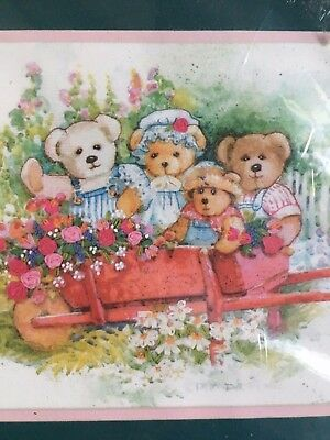 Dimensions Gallery Collection - Bears in the Garden - Ribbon Embroidery Kit 1433