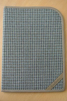 Vintage Pierre Cardin Plaid Wool Tweed Portfolio Document Folder Italy Made
