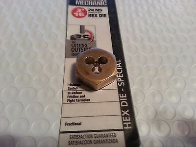 "Master Mechanic 3/16""-24 Ns Hex Die-Special  788762"