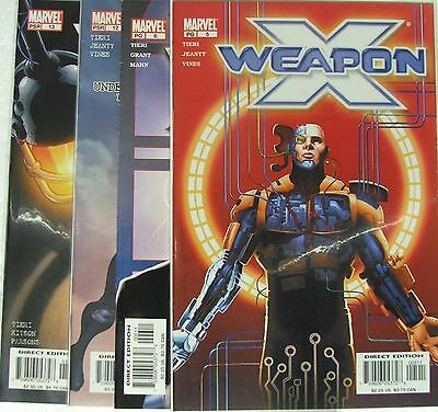 Marvel Comics Weapon X lot of 4 books.  Issues 5, 6, 12, 13.   X Men Spinoff