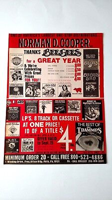 Norman D. Cooper Thanks Bee Gees (1978)  Rare Original Print Promo Poster Ad