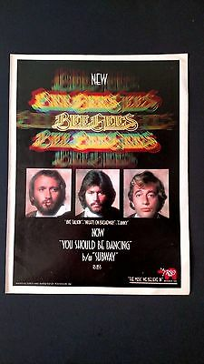 """The Bee Gees """"you Should Be Dancing """" (1976) Rare Original Print Promo Poster Ad"""