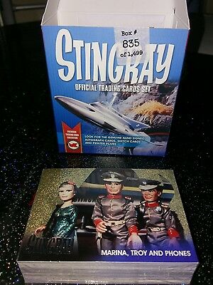 Stingray Base Set Of 54 & 6 Foil Set Trading Cards Gerry Anderson + Empty Box