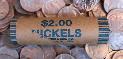1x Unopened Buffalo Nickel Roll of 40 Old US Coins Lot 1913 - 1938 P D S