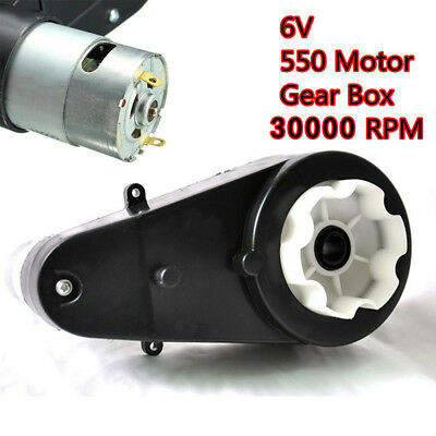 12V 30000 RPM Electric Motor Gear Box For Kids Ride On Car Bike Toys Spare Part