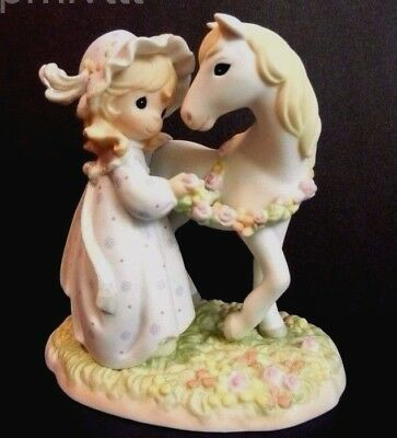 Precious Moments Limited Ed. 12500 Girl With Horse-Peace In The Valley-With Box
