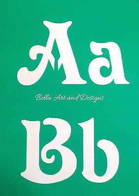 List 1 - Letter and Number Stencil Sets (XLarge)  **Free gift with every order**