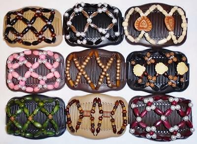 """Double Hair Combs, Angel Wings Clips 4x3.5"""", African Butterfly, Quality S78"""