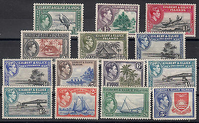 GILBERT&ELLICE ISLANDS 1939 SG: 43/54 complete + 48a + 51a .Mint Hinged.CV:£61.