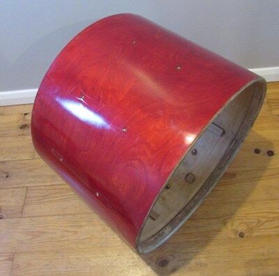 """PREMIER 22"""" x 16"""" Rosewood Veneer Bass Drum Shell 90's Vintage Perfect Project"""