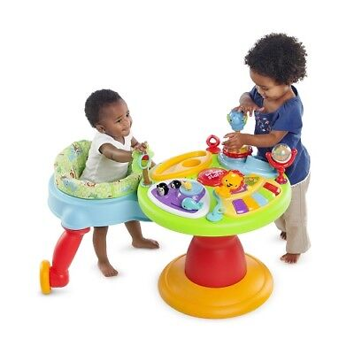 Bright Starts 3 In 1 Around We Go Activity Center Baby To Safely Action Reaction