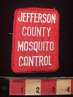 Vintage JEFFERSON COUNTY MOSQUITO CONTROL Texas Patch Emblem 77DD