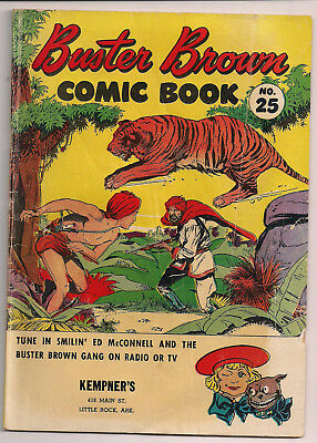 Buster Brown Comic Book #25 Promotional Comic 1950's  GD/VG