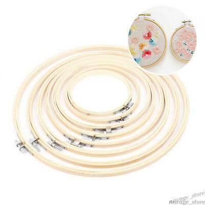 8 Size Wood Hand Embroidery Hoop Round Hoop Cross Stitch Frame Sewing Craft Tool