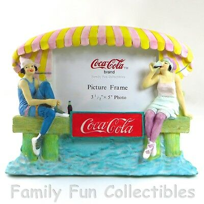 COCA-COLA~1997 Sunbelt Photo Picture Frame~1920s Bathing Suit Ladies~3D Coke~NEW