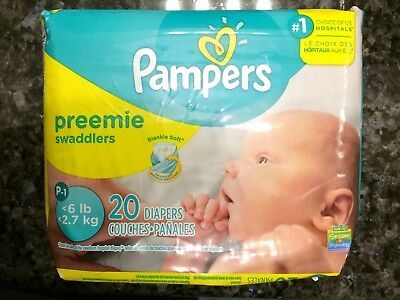 Brand New Pampers Swaddlers  Preemie Diapers - 20 Count