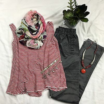 5 Pcs Womens Clothing Lot Size Small Outfit Tank Top  Scarf Pants Necklace