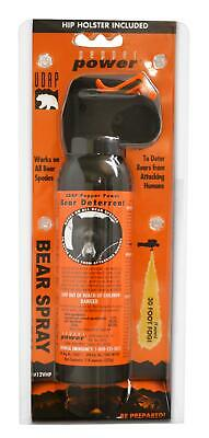 Udap 12Vhp Bear Spray W/orange Hip Holster 7.9Oz/225G Up To 35 Feet
