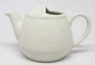 Hall #82 Restaurant Ware White Individual London Teapot - 16 Ounces
