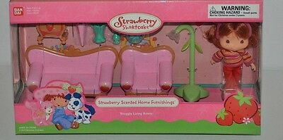 Rare Lot Strawberry Shortcake Scented Home Furnishings Snuggly Living Room Mib