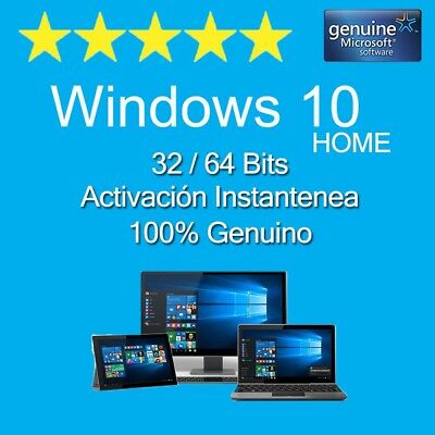 Windows Win 10 Home 32/64 Bits Key/clave -100% Original - Multilenguaje