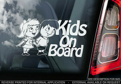 Kids on Board - Car Window Sticker - Baby, Child Brother Sister Decal Sign Gift