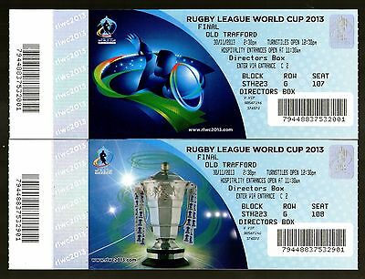 2013 RL WORLD CUP FINAL - AUSTRALIA v NEW ZEALAND @ MANCHESTER UNITED - TICKETS