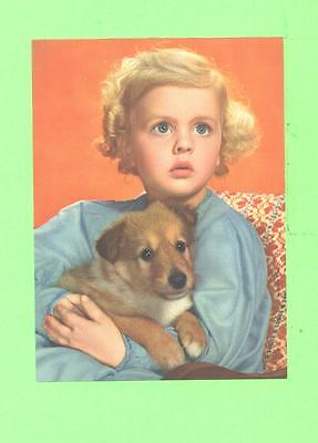 Vintage Calendar Image Boy With Little Dog