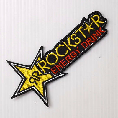 """4.1/2""""x1P. ROCKSTAR ENERGY DRINK EMBROIDERED IRON ON SEW PATCH BADGE CAP SHIRT"""