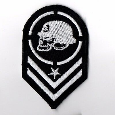 "3.1/2""x1P. METAL MULISHA ARMY EMBROIDERED IRON ON SEW PATCH BADGE CAP SHIRT"