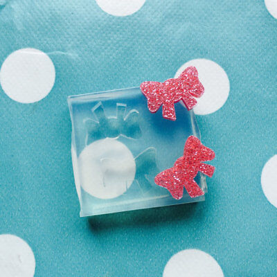 Silicone Earring Bow Mold  - Earrings Ribbon Resin Crafter Mould Stud jewellery