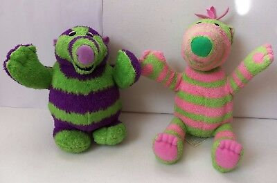 Fisher Price Fimbles Roly Mo And Baby Pom Plush Soft Toy Figures CBBC TV Dolls