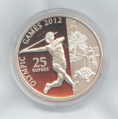 Seychelles Silver Coin 2011 25 Rupees Olympic Games 2012 Silver Proof