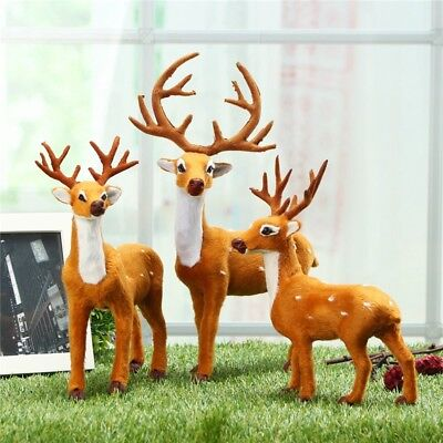 Reindeer Christmas Deer Xmas Shop Window Showcase Party Decor Ornament Gift 3 Si