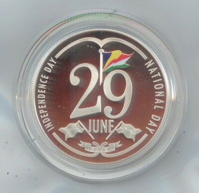 Seychelles Silver Coin 2015 50 Rupees - 29 June  Independence Day Silver Proof