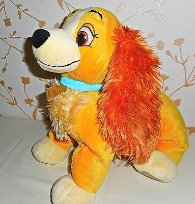 """Large Soft Toy """"lady"""" From Disney's Lady & The Tramp Authentic Disney Store Toy"""
