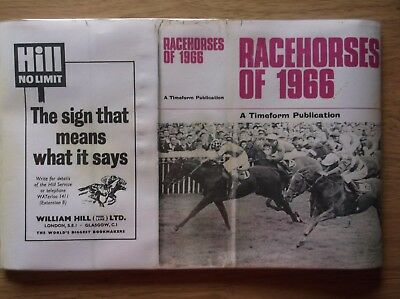 "Timeform Copy Dust Jacket For ""racehorses Of 1966"""