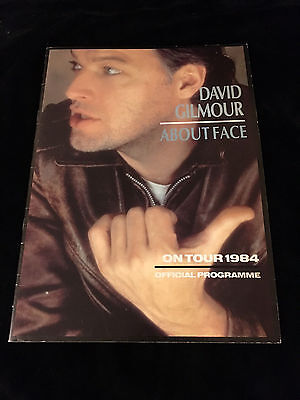 David Gilmour-About Face Tour-Concert Program Book-With Poster-Pink Floyd-1984