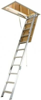 New Werner 10.41-ft to 12-ft Type IAA Aluminum Attic Ladder For ceiling openings