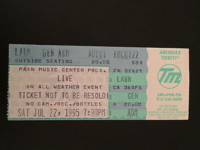 Live-The Band Ticket Stub-Mann Music Center-Philadelphia 1995