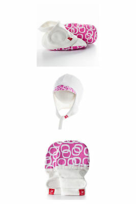 Goumi Baby Mittens, Hats and Boots 6-9m - Pink