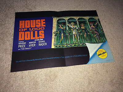 HOUSE OF 1000 DOLLS 1967 Movie Promo Brochure AIP Sexploitation Bad Girl Poster