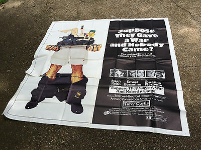 SUPPOSE THEY GAVE A WAR & NOBODY CAME Orig 6sh Movie Poster 1970 Anti-War Comedy