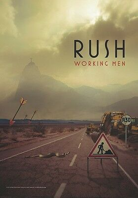 RUSH working men Textile Poster Flag