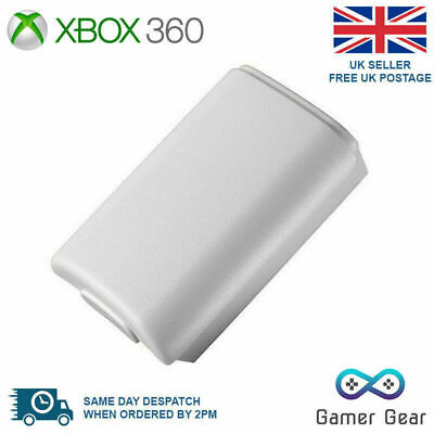 Battery Back Cover Case Shell Pack for Xbox 360 Controller - White