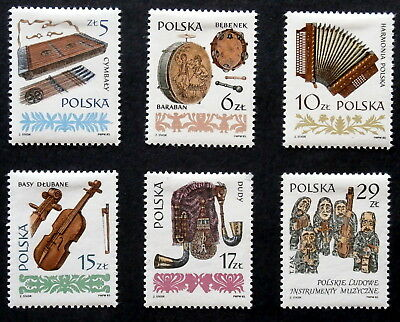 POLAND -1984 : Musical Instruments, Set of 6