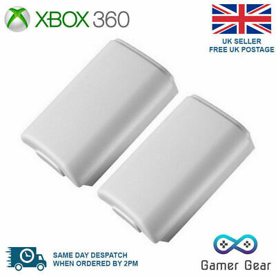 2x Battery Back Cover Case Shell Pack for Xbox 360 Controller - White