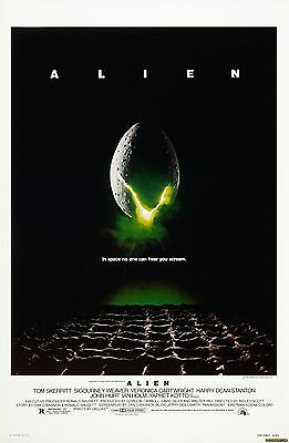 Alien 1979 Laminated Mini A4 Movie Poster Ridley Scott
