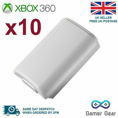 10x Battery Back Cover Case Shell Pack for Xbox 360 Controller - White